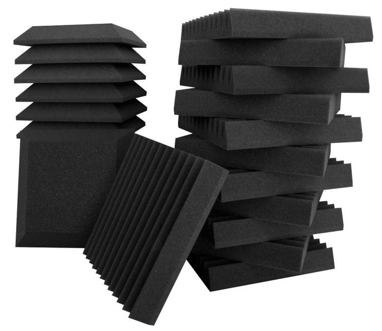 "Ultimate Support Studio Bundle II Bevel and Wedge-style Professional Studio Foam 12""x12""x2"", QTY 24 Mix"