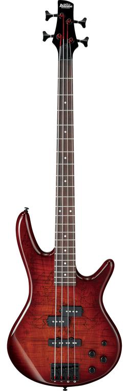 Ibanez GSR200SM 4-String Bass Charcoal Brown Burst