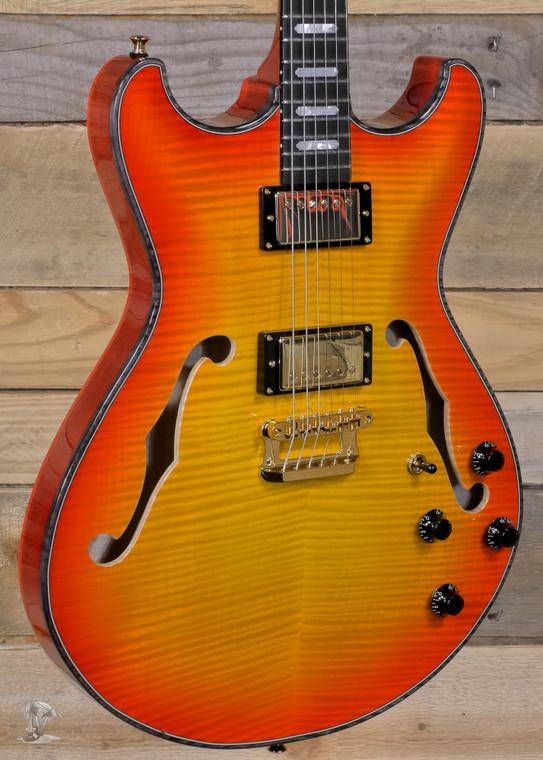 Knaggs Sheyenne T1 Hollowbody Electric Guitar California Sunset w/ Case