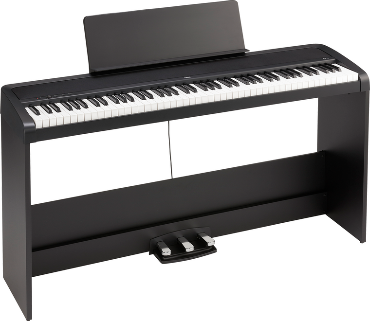 Korg B2SP 88 Natural Weighted Hammer Key Digital Piano Black w/ Stand