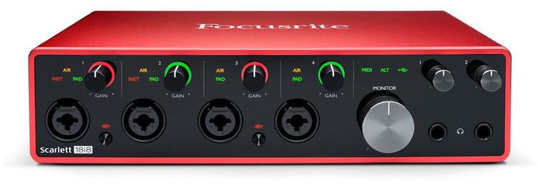 Focusrite Scarlett 18i8 8 Input / 4 Output Audio Recording Interface