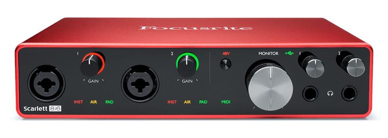 Focusrite Scarlett 8i6 6 Input / 4 Output Audio Recording Interface