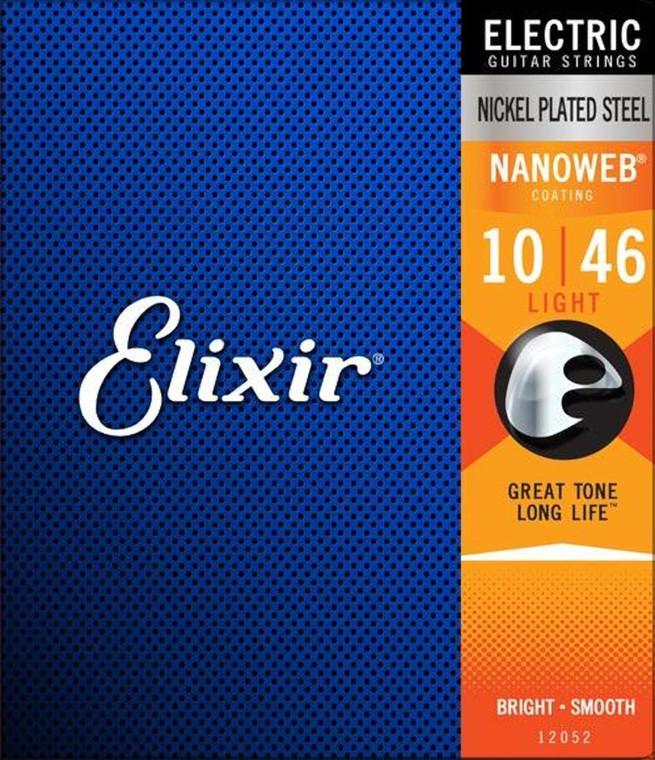 Elixir Electric Nickel Plated Steel Light with NANOWEB Coating
