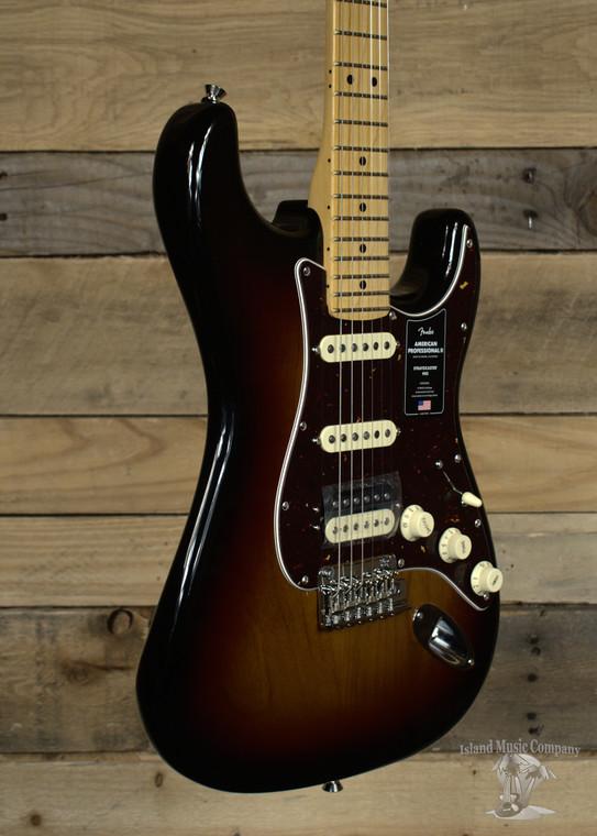 Fender American Professional II Stratocaster HSS Electric Guitar 3-Tone Sunburst w/ Case