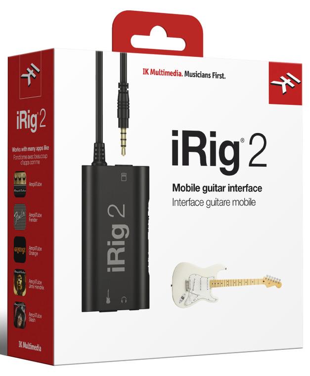 IK Multimedia iRig 2 Analog Guitar Interface For iOS & Mac