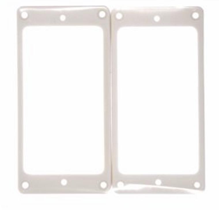 All Parts PC-0743-025 Slanted Humbucking Pickup Ring Set - White