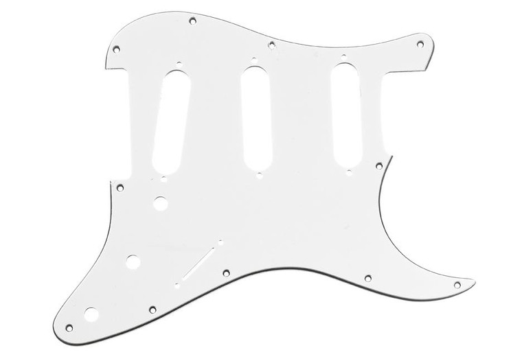 All Parts PG-0552-035 11-Hole Pickguard for Stratocaster - White