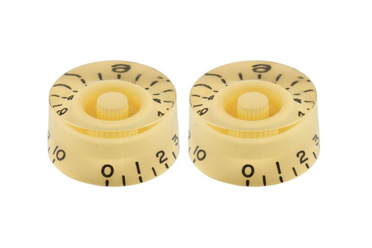 All Parts PK-0130-028 Vintage Style Speed Knobs - Cream 2 Pack