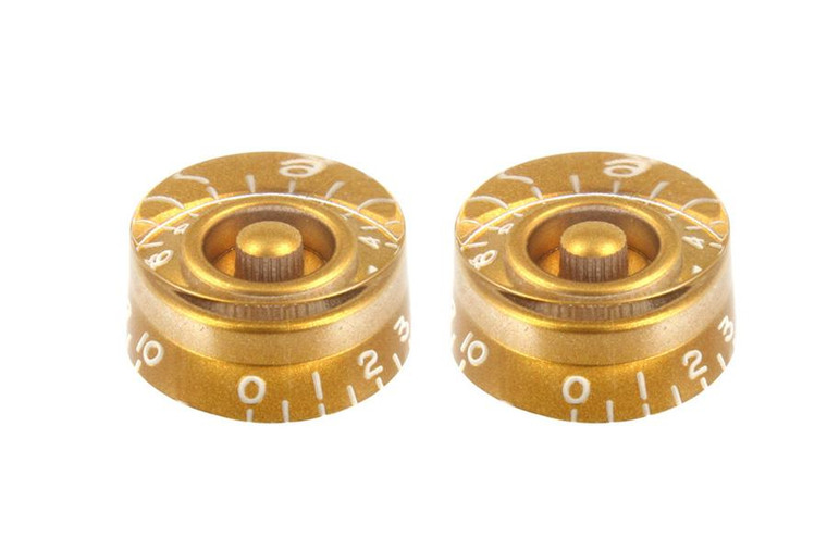 All Parts PK-0130-032 Vintage Style Speed Knobs - Gold 2 Pack
