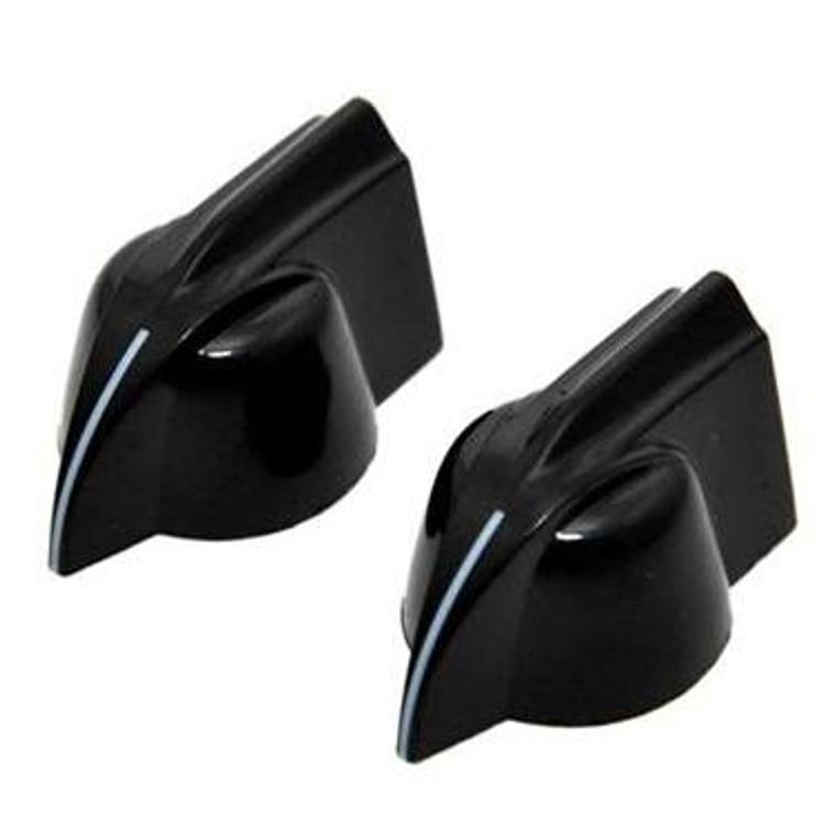All Parts PK-0173-023 Chicken Head Pointer Knobs - Black 2 Pack