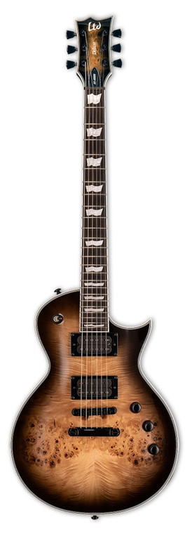 ESP EC-1000 Burled Poplar Electric Guitar Black Natural Burst