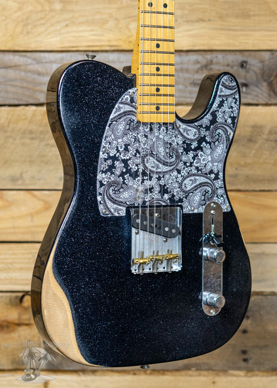 Fender Brad Paisley Esquire  Electric Guitar Road Worn Black Sparkle w/ Gigbag