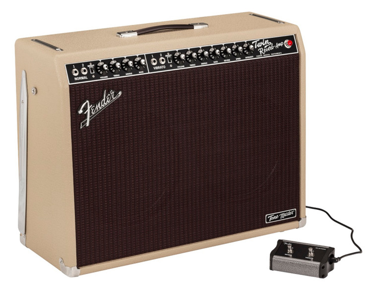 """Fender Tone Master Twin Reverb 85W 2x12"""" Combo Amp Blonde"""