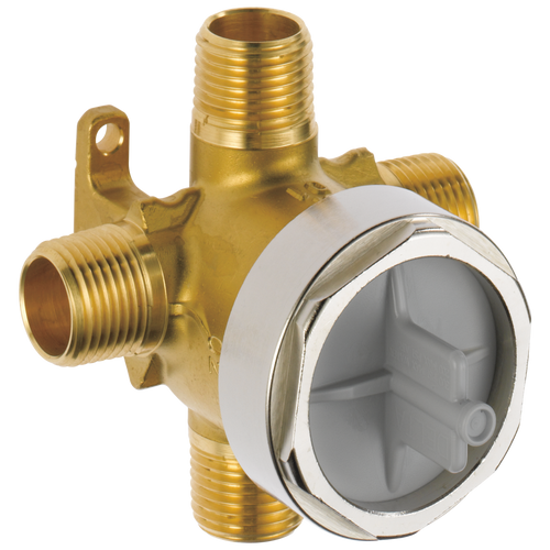 Delta R18000-XO Jetted Shower(TM) Rough-In Valve with extra Outlet (6-Setting)