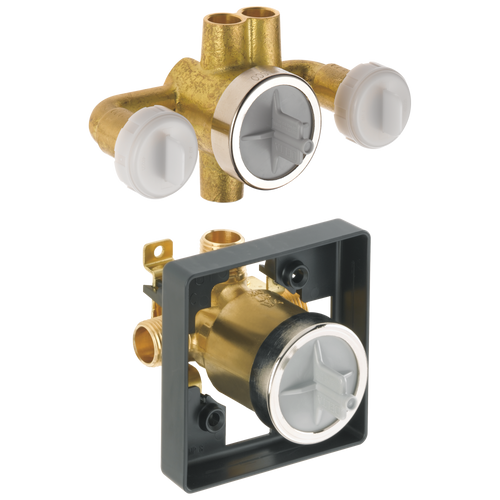 Delta R18000-XOWS Jetted Shower(TM) Rough-In Valve with extra Outlet (6-Setting)