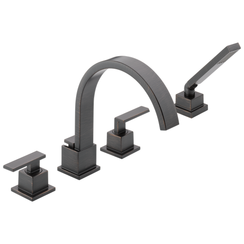 Delta T4753-SS Vero Roman Tub With Hand Shower Trim STAINLESS