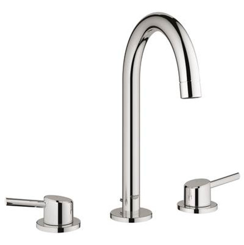 Grohe 20217ENA Concetto 8 in. Widespread 2-Handle Bathroom Faucet Brushed Nickel