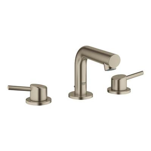 Grohe 20572EN1 Concetto 8 in. Widespread 2-Handle Mid-Arc Bathroom Faucet in Brushed Nickel Brushed Nickel