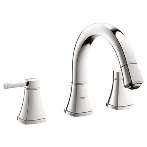 Grohe 25154EN0 Grandera Roman Tub Filler With Personal Hand Shower Brushed Nickel
