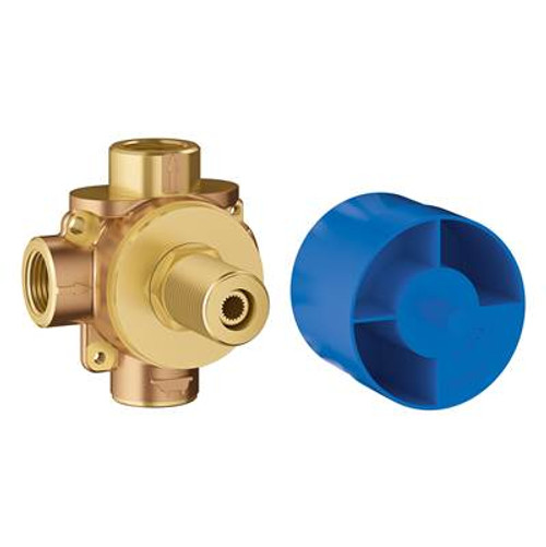 Grohe 29902000 Concetto 1/2 in. 3-Way Pressure Balance Rough Valve Chrome