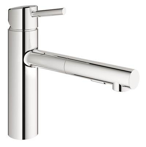 Grohe 31453DC1 Concetto Single-Handle Pull-Out Kitchen Faucet with Dual Spray Super Steel