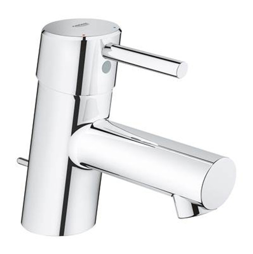 Grohe 34702EN1 Concetto Single Hole Single-Handle Bathroom Faucet with Drain Assembly in Brushed Nickel Brushed Nickel