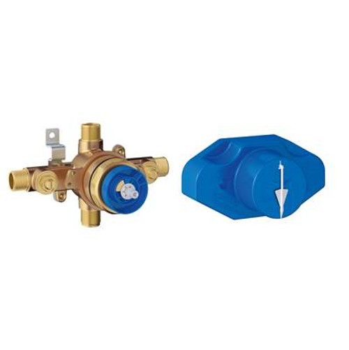 Grohe 35016000 Grohsafe Pressure Balance Rough-In Valve With Built-In Spring Loaded Diverter