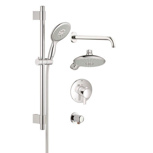 Grohe 35060003 Eurostyle Single-Handle Pressure Balance Valve Shower Faucet Combination Chrome