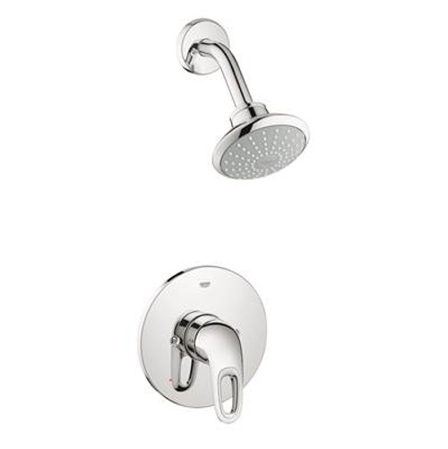 Grohe 35060EN3 Eurostyle Single-Handle Pressure Balance Valve Shower Faucet Combination Brushed Nickel