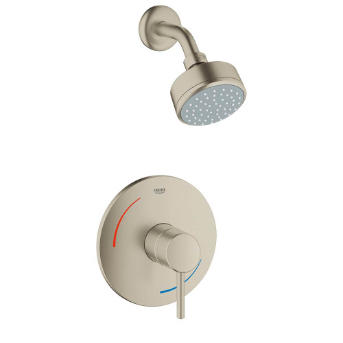 Grohe 35075EN1 Concetto 1-Handle 1-Spray Tub and Shower Faucet in Brushed Nickel Brushed Nickel