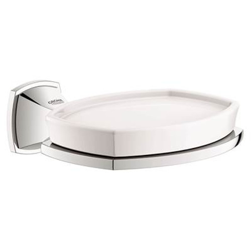 Grohe 40628000 Grandera Ceramic Soap Dish With Holder Chrome