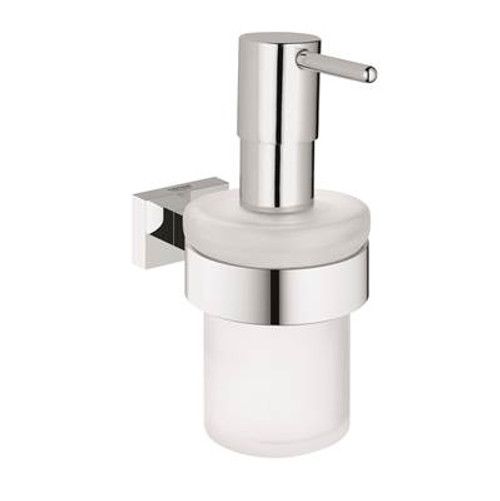 Grohe 40756001 Essentials Cube Soap Dispenser With Holder Chrome
