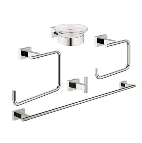 Grohe 40758001 Essentials Cube Master Bathroom Set 5-In-1 Chrome