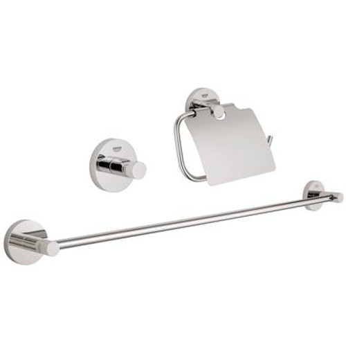 Grohe 40775EN1 Essentials City Bathroom Set, 3-In-1 Brushed Nickel