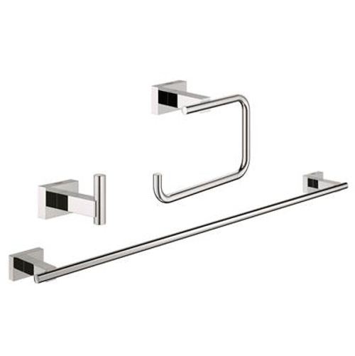 Grohe 40777001 Essentials Cube City Bathroom Set 3-In-1 Chrome