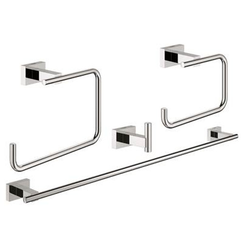 Grohe 40778001 Essentials Cube Master Bathroom Set 4-In-1 Chrome