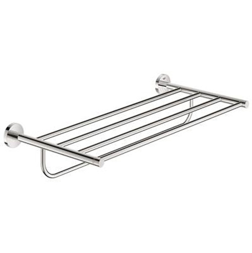 Grohe 40800001 Essentials 22 In. Multi-Towel Rack Starlight Chrome