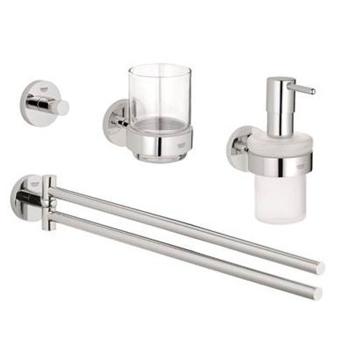 Grohe 40847001 Essentials Cube Master Bathroom Set 4-in-1 Chrome