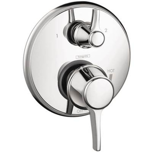 Hansgrohe 04449820 Metris C Trim Pressure Balance with Diverter BRUSHED NICKEL