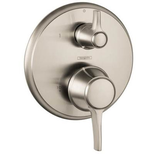 Hansgrohe 04449830 Metris C Trim Pressure Balance with Diverter POLISHED NICKEL