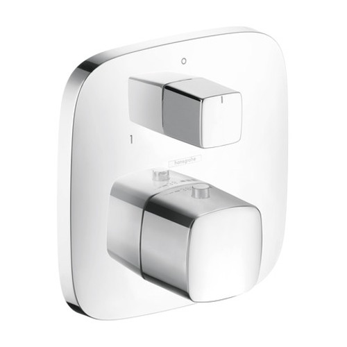 Hansgrohe 15771401 PuraVida Thermostatic Trim w/Volume Control & Diverter WHITE/CHROME