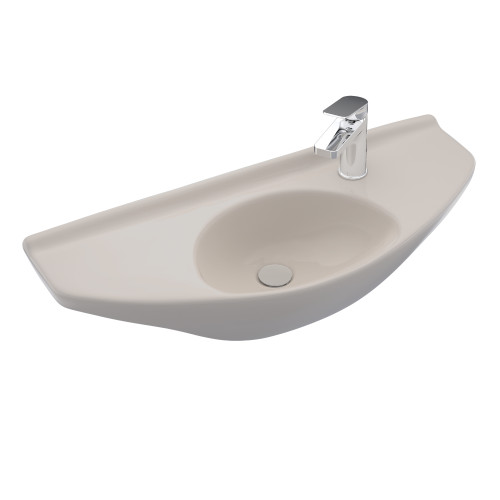 TOTO LT781#01 Clayton Rectangular Self-Rimming Drop-In Bathroom Sink for Single Hole Faucets, Cotton White - LT781#01