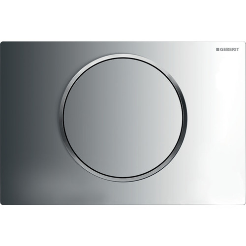 Geberit Duravit 115.758.KH.5 Sigma10 Single-Flush Actuator Plates Polished Chrome W/ Matte Chrome Accent