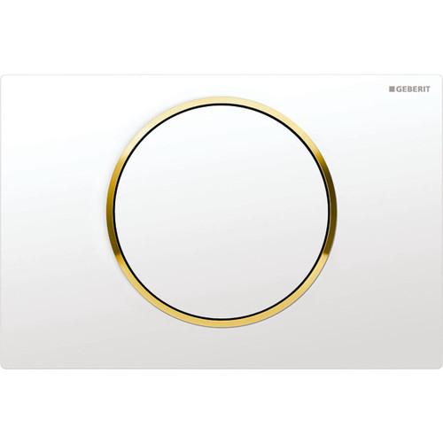 Geberit Duravit 115.758.KK.5 Sigma10 Single-Flush Actuator Plates White-Gold-White