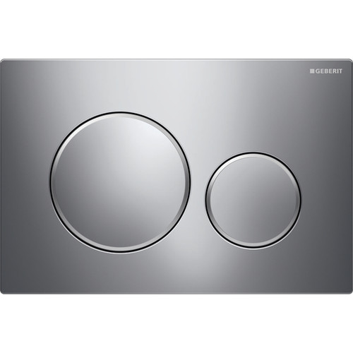 Geberit Duravit 115.882.KH.1 Sigma20 Dual Flush Actuator Brushed-Matte-Brushed Chrome