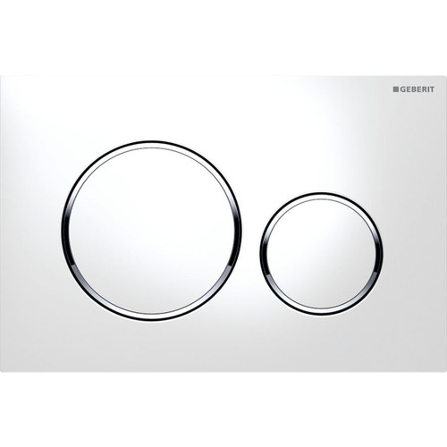 Geberit Duravit 115.882.KJ.1 Sigma20 Dual Flush Actuator Bright Chrome-White
