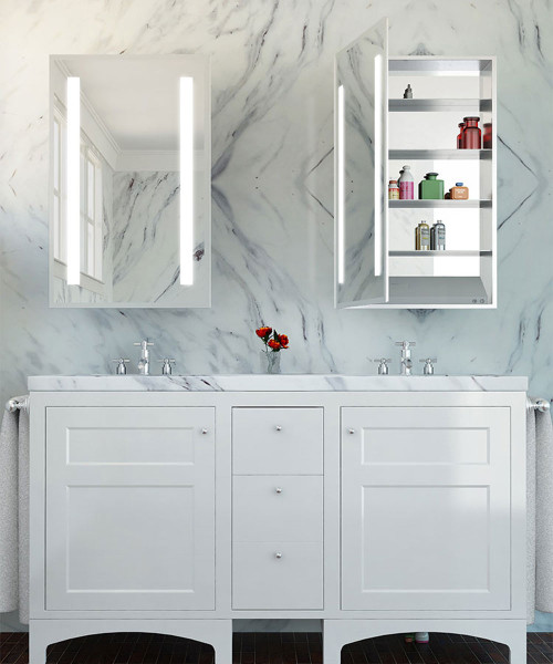 Electric Mirror AMB-2340-LT Ambiance Mirrored Cabinet Left Hinge