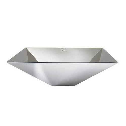 """DecoLav 17"""" Contemporary Polished Stainless Steel Square Vessel Sink"""