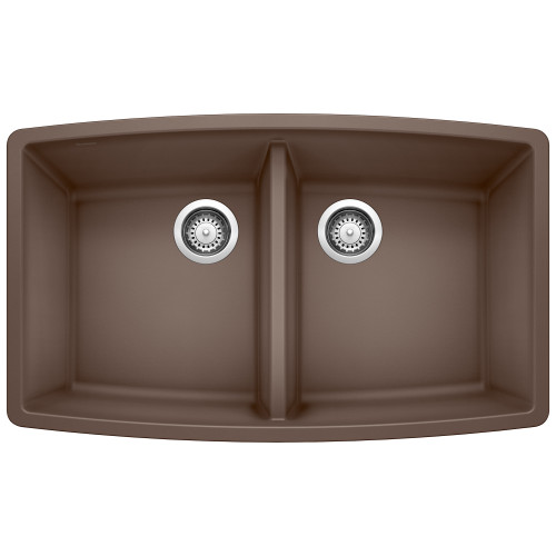 Blanco 440068 Performa Silgranit II Double Bowl - Caf?? Brown Undermount Kitchen Sink
