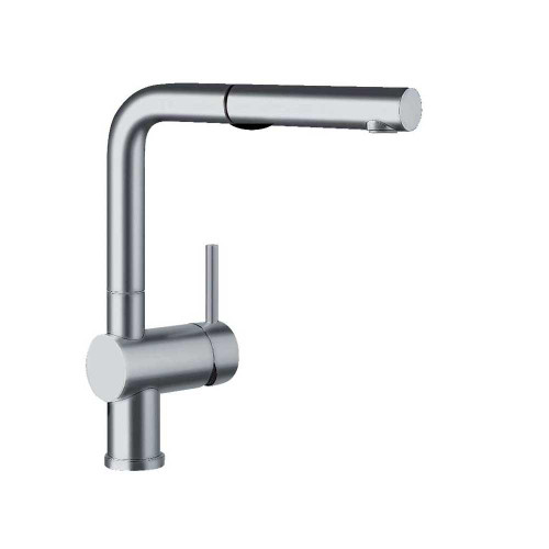 Blanco 441404 Linus Dual Spray Pull-Out Kitchen Faucet Satin Nickel